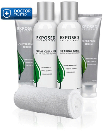Exposed Skin Care Acne Treatment Basic Kit