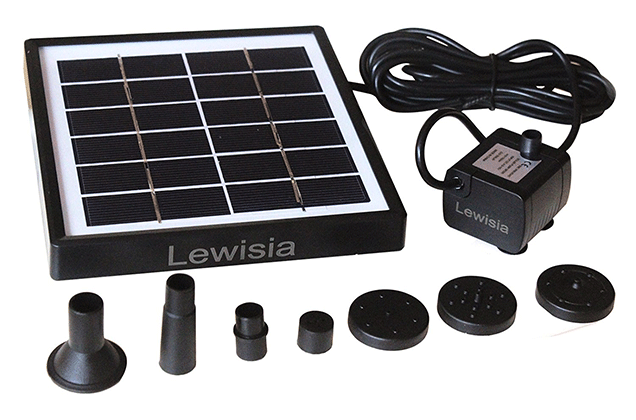 Lewisia 1.5W Outdoor Solar Fountain Pump