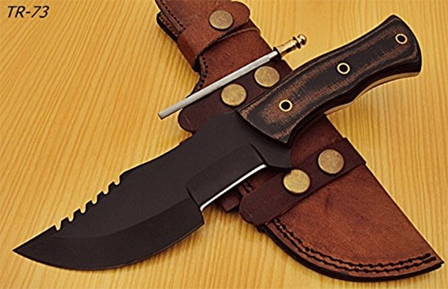 Powder Carbon Coated TR 73 Tracker Knife