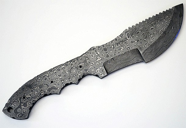 Damascus High Carbon Blank Blade Tracker Hunting Knife