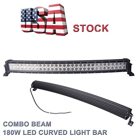 Topcarlight 32inch 180w Curved LED Work Light BAR