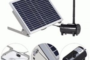 Anself 17V Solar Water Pump