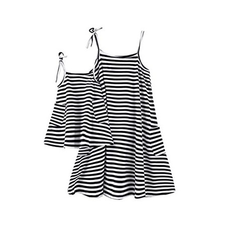 Norbi Mother Daughter Striped Shirt Dresses