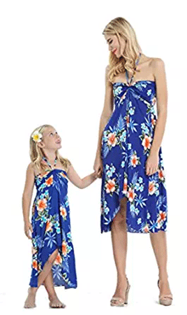 Hawaii Hangover Matching Hawaiian Luau Butterfly Dresses