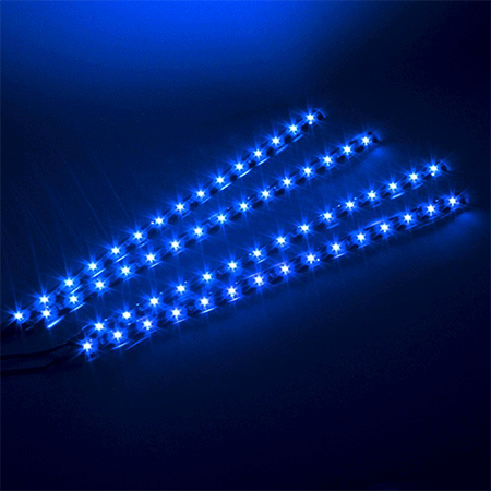 IMAGE 4Pcs Blue Strip Lights