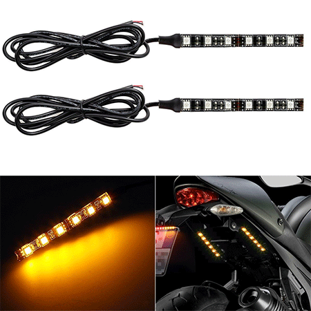 Partsam 2x Mini Strip LED Turn Signal Light