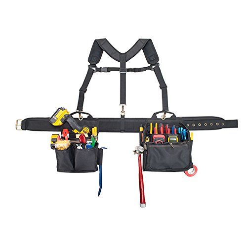 CLC Custom Leathercraft 1608 Electrician's Comfort Lift Combo Tool Belt, 28 Pockets