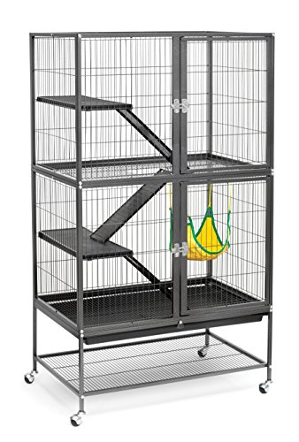 Pervue Hendryx Black Feisty Ferret Cage