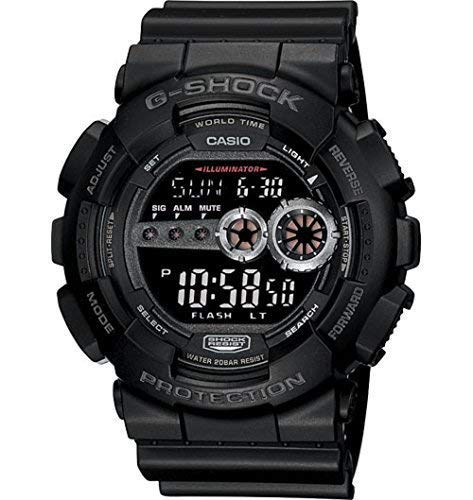 Casio Men's GD100-1BCR G-Shock X-Large Black Multi-Functional Digital Sports Watch