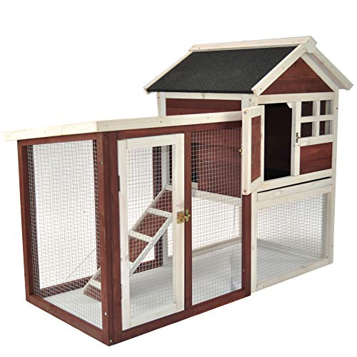 Advantek The Stilt House Rabbit Hutch with Connected Run