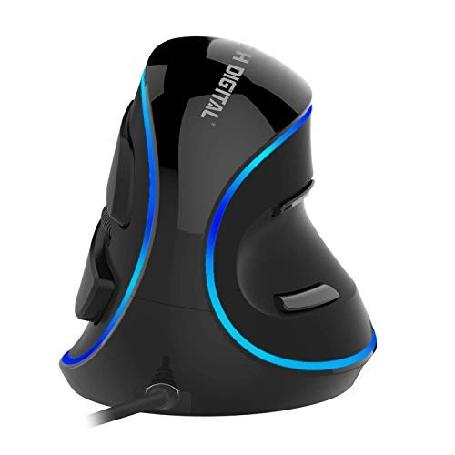 J-Tech Digital [V628] Wired Ergonomic Vertical USB Mouse