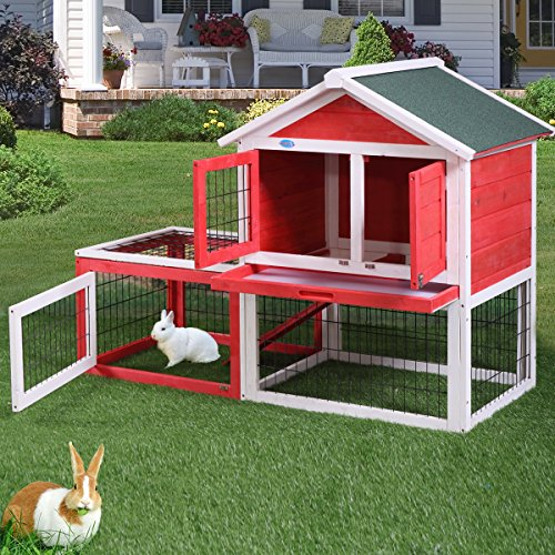 "Lazymoon 53"" Wooden Rabbit House Hutch"