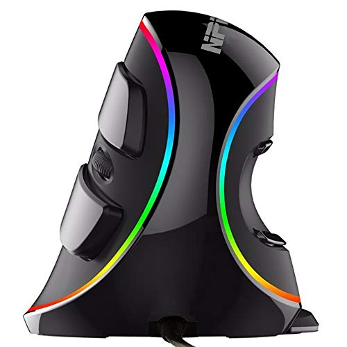 Ergonomic Vertical USB Mouse with RGB Backlit