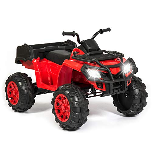 Best Choice Products 12V Kids 4-Wheeler Ride-On ATV Truck w/ 2-Speeds, Lights, Sounds - Red