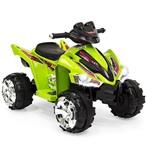 Best Choice Products 12V Kids Battery Powered Electric 4-Wheeler Quad ATV Toddler Ride-On Toy w/ 2 Speeds, LED Lights, Treaded Tires - Pink