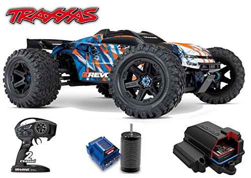 TRAXXAS 1/10 SCALE E-REVO BRUSHLESS RACING MONSTER TRUCK