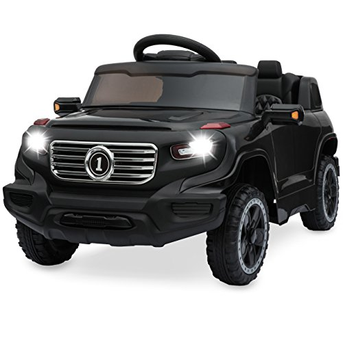 Best Choice Products 6V Motor Kids Ride-On Car Truck w/ 30M Distance Parent Remote Control, 3 Speeds, LED Headlights, MP3 Player, Horn - Black