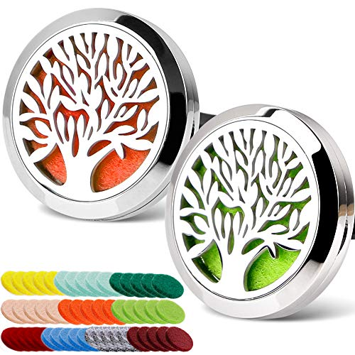 CAR AROMATHERAPY ESSENTIAL OIL DIFFUSER CAR AIR FRESHENER STAINLESS STEEL MAGNETIC CLOSURE