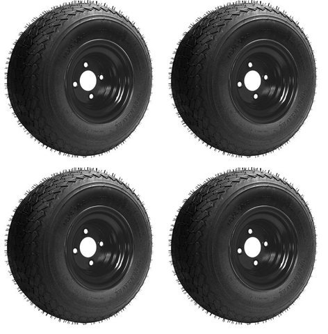 Slasher Golf Cart Wheels and Golf Cart Tires Combo
