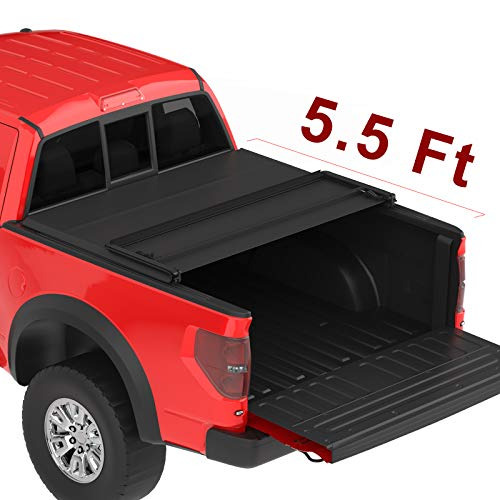 oEdRo Upgraded Soft Tri-fold Truck Bed Cover (fits) 2009-2014 Ford F 150