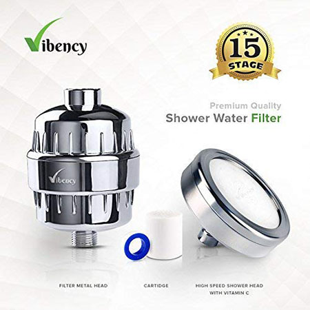 Vibency Shower Head Filter with Vitamin C Cartridge