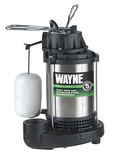 HP Submersible Cast Iron and Stainless Steel Sump Pump With Integrated Vertical Float Switch