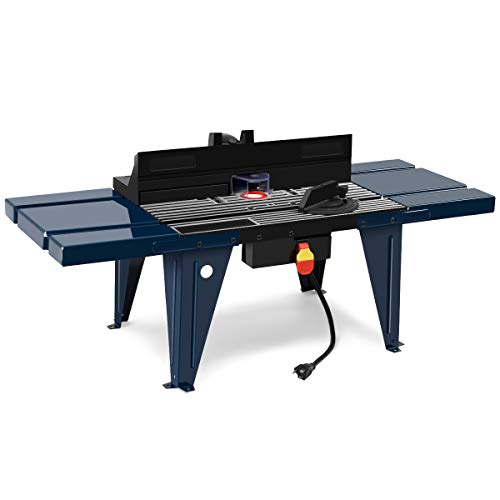 Product Description – Goplus Aluminum Electric Craftsman Router Table & Wood Working Bench Top