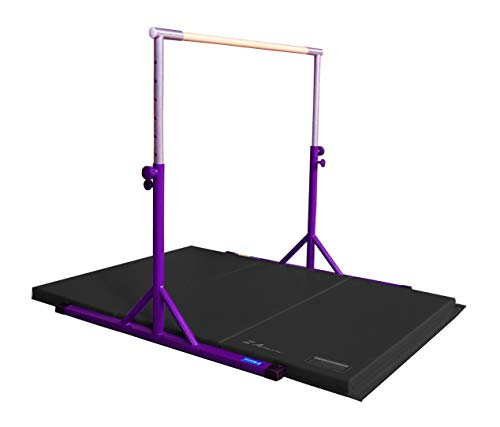 Z Athletic Adjustable Kip Bar and Gym Mat