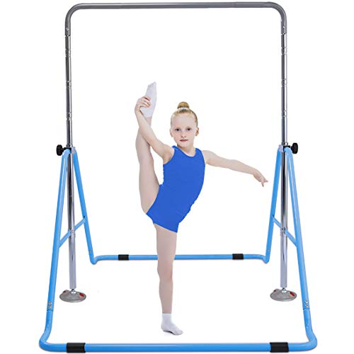 Safly Fun Gymnastics Bar for Kids Height Adjustable Horizontal Kip Bar