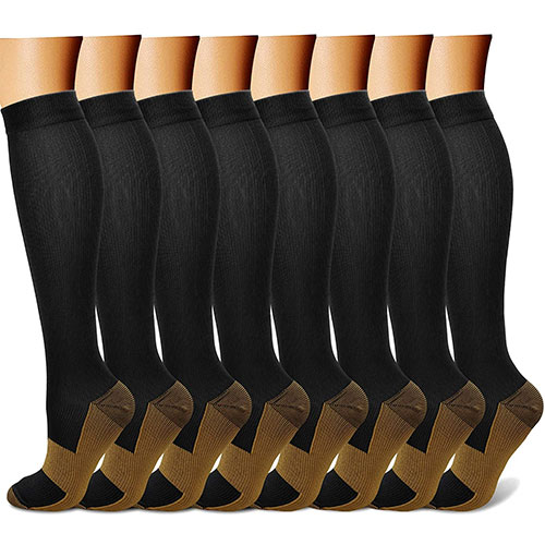 Charmking Copper Compression Socks - 8 Pairs