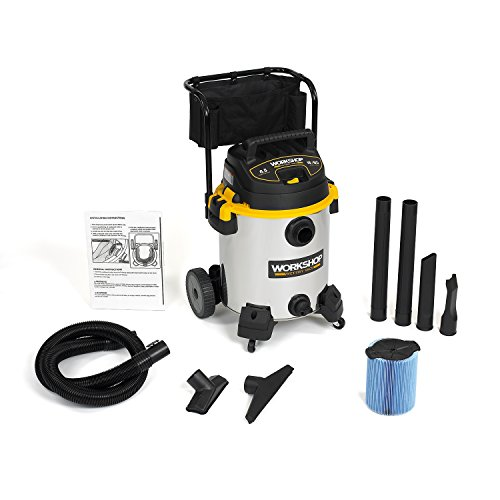 WORKSHOP WS1600SS Stainless Steel 6.5-Peak Wet Dry Vacuum Cleaner