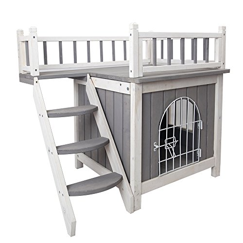 Petsfit Indoor Wooden Pet House with Stairs