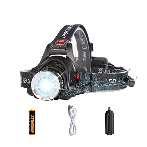 COSOOS Rechargeable Headlamp with Red Safety Light