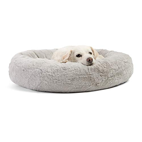 PUPPBUDD Calming Dog Bed Cat Bed Donut