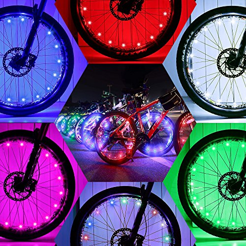 DAWAY Led Bike Wheel Lights - A01 Waterproof Bright Bicycle Light Strip