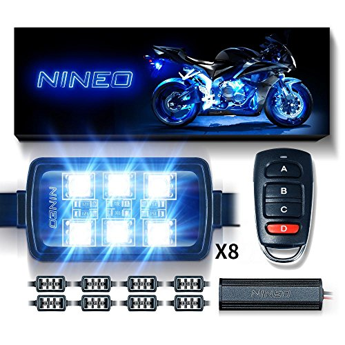 NINEO Motorcycle RGB LED Strip Lights Kit Multi-Color Neon