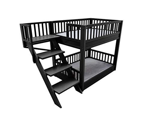 New Age Pet Dog Bed with Stair (Black Color)