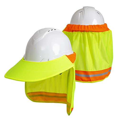 Hard Hat Neck Sun Shade With Visor by Tapix
