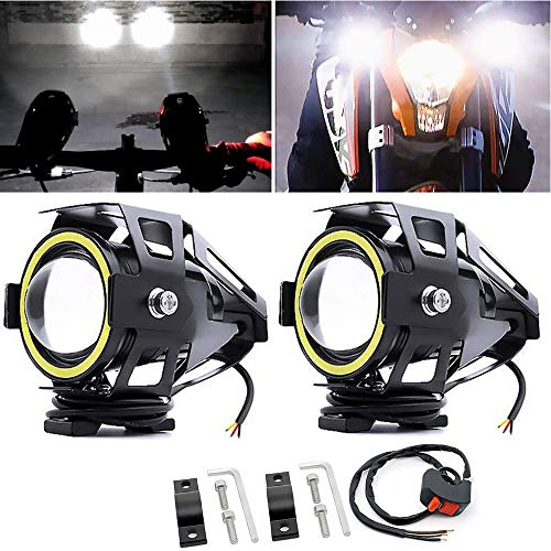 Motorcycle Lights Bulb Fog Headlights, U7 LED Driving Light Spotlight