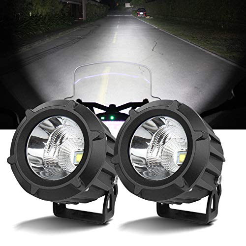 Chelhead LED Driving Light,2Pcs Cree 25W 6000K Spot Beam Round LED Work Light Pod Lights