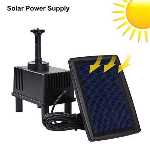 OCGIG Solar Power Fountain 180L/H Pump