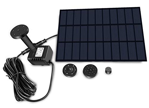 Sunlitec Solar Fountain with Panel Water Pump