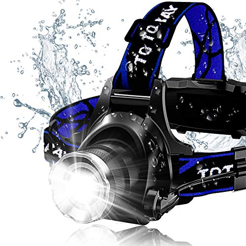 Super Bright LED Headlamps 18650 USB Rechargeable by GRDE