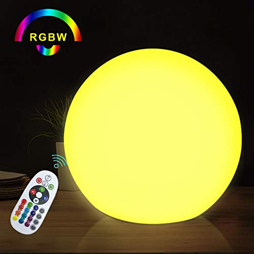 GEECR Store Cordless LED Orb RGB Ball Lamp with Remote