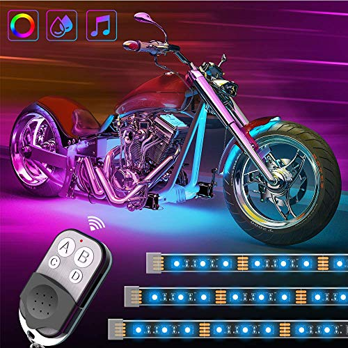 Govee 8PCS Motorcycle LED Lights Kits, DC 12-Volt Neon Lights