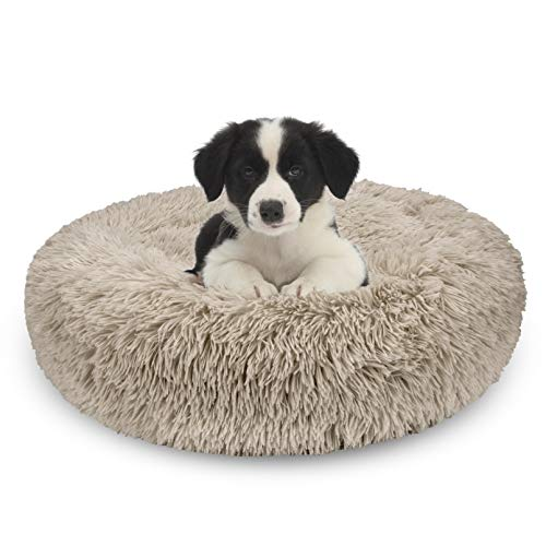 AIPERRO Pet Bed for Small Dogs and Cats Donut Cuddler Fur Round