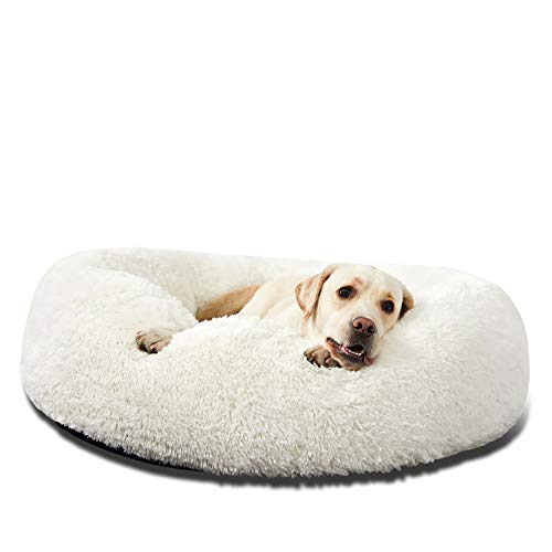 HACHIKITTY Dog Beds Calming Donut Cuddler