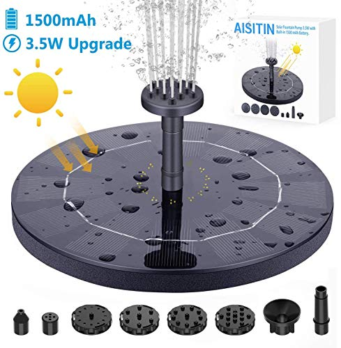 AISITIN 3.5W Solar Fountain Pump