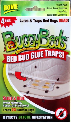 Bed Bug Trap - BuggyBeds Home Glue Traps (4 Pack)