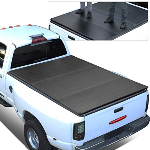 Replacement for 04-15 Titan 5.7 Ft Short Bed FRP Hard Solid Tri-Fold Tonneau Cover